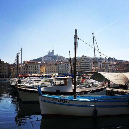 Marsiglia Bateau Vieux Port Provence Marseille Nautical Vessel Transportation Moored Mode Of Transport Harbor Travel Destinations Sky Outdoors