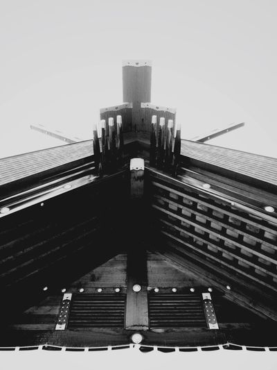 Black And White Friday Architecture Built Structure Building Exterior City Outdoors Low Angle View No People Day Clear Sky Sky EyeEmNewHere