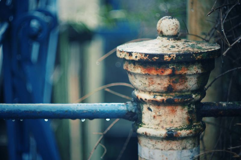 bonjour tristesse Rusty Pipe - Tube Focus On Foreground Outdoors Close-up Metal Bokeh Love Tranquility Rainy Days Rain Decay Decayed Beauty Obsolete Melancholic EyeEmNewHere