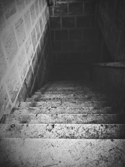 Will you go down the stairs? Urbex Blackandwhite Stairs Cemetery