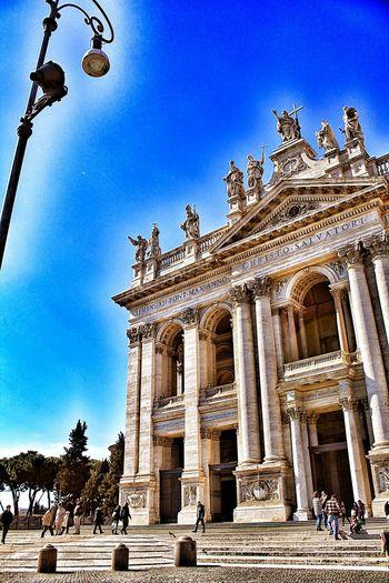 Praying Taking Photos Church Rome Italy Sunnyday History Hello World Beautiful