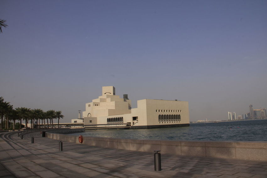 Architecture Building Exterior Built Structure City Clear Sky Cornish Coast Day Doha,Qatar Ministry Of Interior Nature No People Outdoors Sea Sky Water