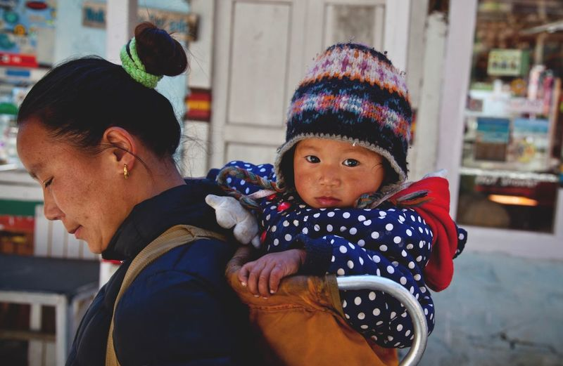 Child Childhood Real People Family Two People Warm Clothing Moms & Dads Togetherness Baby Bonding Innocence Portrait My Best Photo