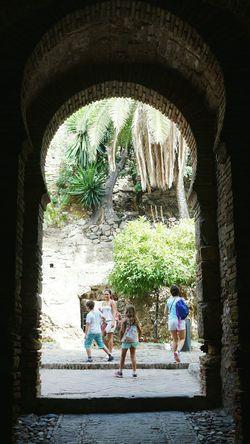 Alcazaba castle, Malaga. Malaga Spain Málaga,España Malaga SPAIN Architecture Heritage Building Monuments Historical Building Historical Monuments Castel Vacations Travel Traveling Travel Destinations Archway