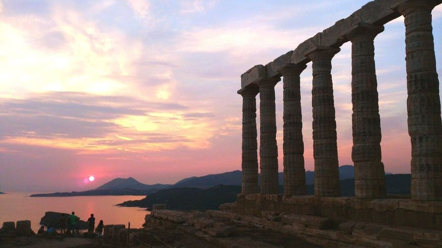 Protecting Where We Play Greece Poseidon Temple Ancient Ruins Sunset Temple Beautiful Peaceful Colors