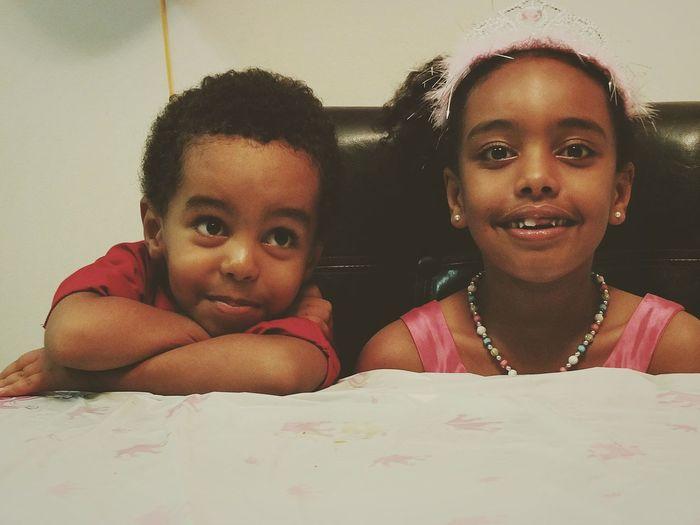 Kids Beautiful Brother & Sister Lovely Portrait EyeEm