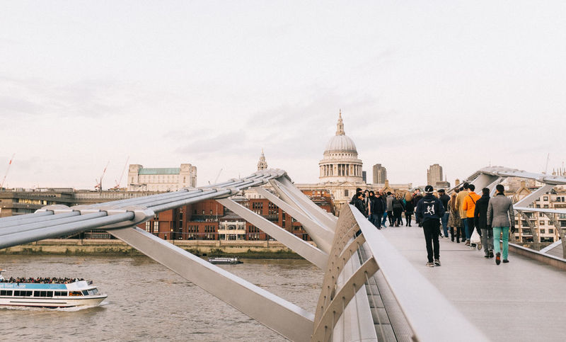 Other side Architectural Feature Architecture Building Exterior Built Structure Capital Cities  City City Life Composition Dome Engineering Famous Place Fujifilm_xseries International Landmark Leading London LONDON❤ Low Angle View Millenium Bridge People Religion Showcase: January Travel Travel Destinations Traveling X100S