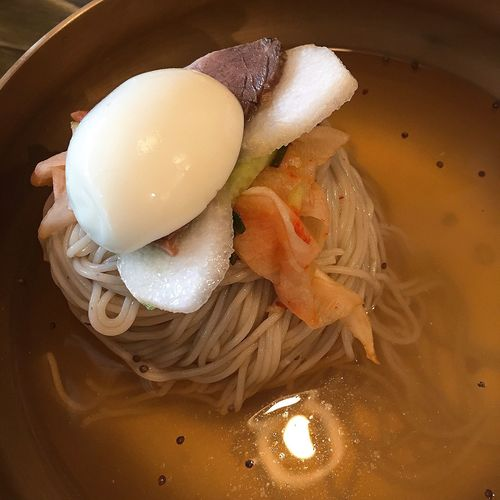 cold noodles Food Noodles Cold Noodles Indoors  No People Egg High Angle View Close-up Korean Food