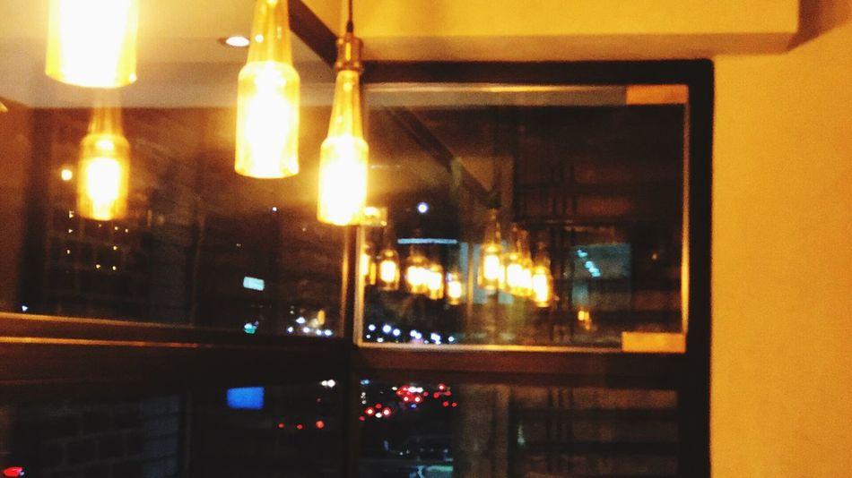 Light And Shadow Illuminated Night Lighting Equipment No People Window Glass - Material Reflection Indoors