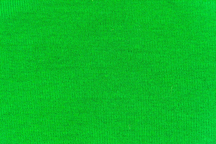 Full frame shot of green silk fabric