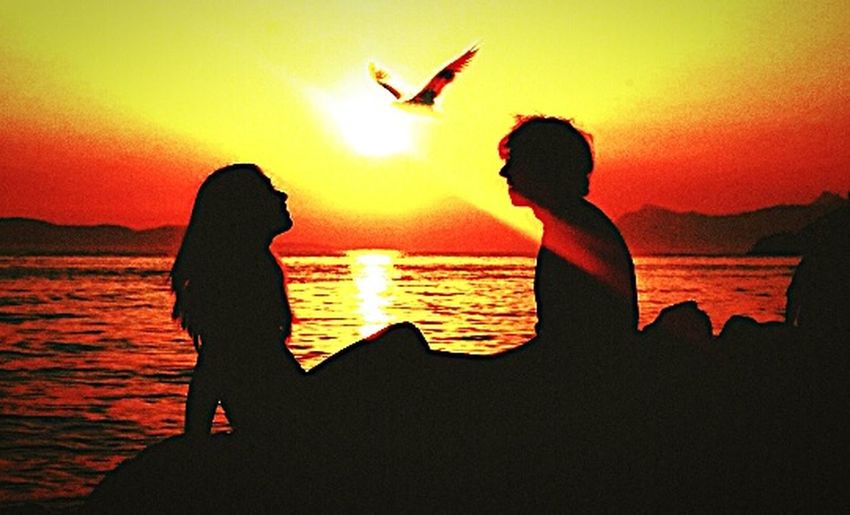 Sunset Lovestory Sea 🌅💑