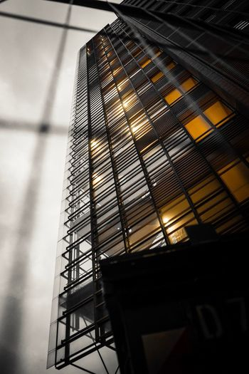 NO REFLECTION Low Angle View Built Structure Architecture Building Exterior Building No People Sky Pattern Modern Illuminated Day Reflection Window Glass - Material Cloud - Sky Office Building Exterior Glass