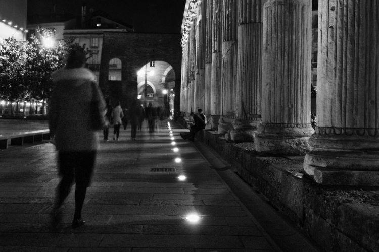 Follow the lights Architecture Night The Way Forward IPhoneography Mobilephotography Blackandwhite Street Portrait Vscocam EyeEm Best Shots OpenEdit EyeEm Best Edits VSCO Street Photography Streetphotography EyeEm Milano