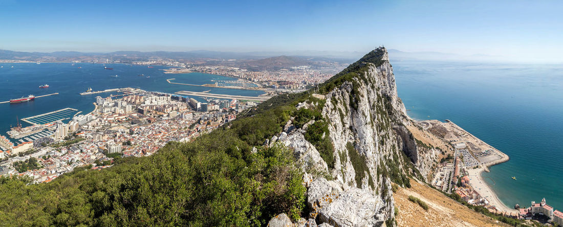 A panoramic shot of the Rock of Gibraltar... Beautiful Landscape Beautiful Landscapes City Cityscape Famous Places Gibraltar Gibraltar Landscape Gibraltar Panorama Gibraltar Rock Gibraltar Views Harbor Landscape Landscapes Pano Panorama Panoramic Panoramic Photography Rock Of Gibraltar Sea Stunning Landscape Stunning Landscapes Travel Travel Destination Travel Destinations Travel Photography