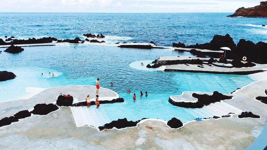 Lava rock pool, Madeira. Madeira Porto Moniz Madeira Water Sea Sky Beach Lost In The Landscape