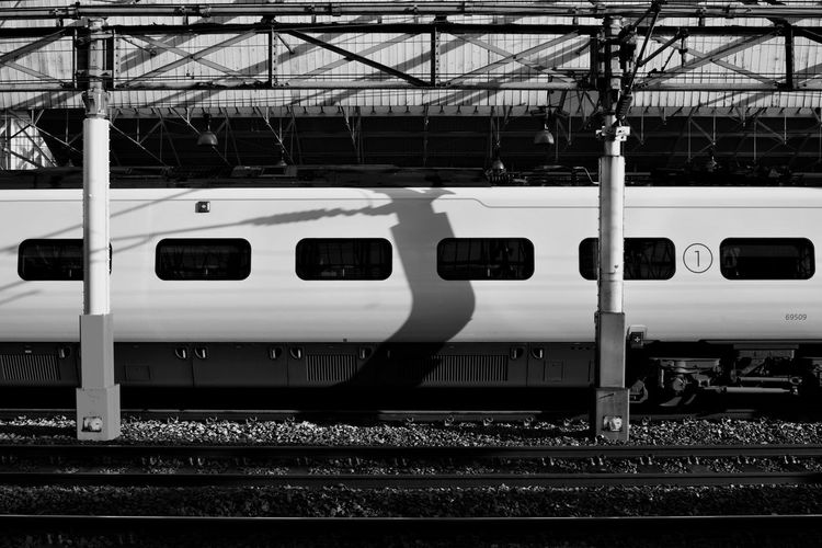 Travelling first class Black And White Black And White Photography High Speed Train First Class Shadows And Light Shadows Locomotive Commuter Train Public Transportation Railroad Track Train - Vehicle Business Finance And Industry Rail Transportation Railroad Station Platform Travel Sky Station Passenger Train