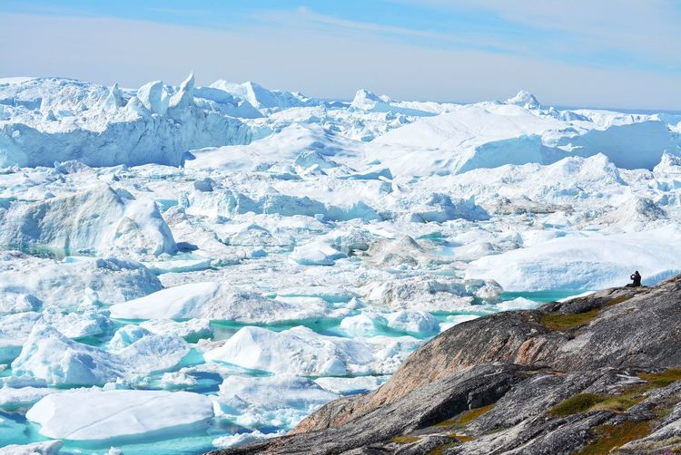 Ilulissat, Greenland, July | UNESCO world heritage site | impressions of Jakobshavn | Disko Bay Kangia Icefjord | huge icebergs in the blue sea on a sunny day | climate change - global warming Beauty In Nature Nature Outdoors Icebergs Iceberg Greenland Climate Change Global Warming UNESCO World Heritage Site Arctic Melting Glacier Natural Beauty Cold Temperature Day Summer Tranquility Nordic Scenery Lonely Tranquil Scene Non-urban Scene Idyllic Formation Environment Scenics - Nature My Best Photo