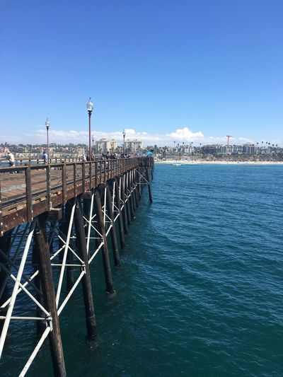 Trip to Oceanside last week! Sea Water Blue Pier Nature Day Outdoors Beauty In Nature Clear Sky Scenics No People Sky No Edit/no Filter Oceanside Seaside