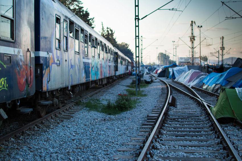 Idomeni Train Tracks Afghan Crisis Humanitarian Humanitarianaid Idomeni Refugee Refugees Syrian Tents Train Train Tracks Camp