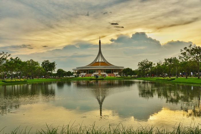 Suan Luang Rama IX Park Sky And Clouds Cloud Cloud - Sky Sky Nature Parks Landscape Park Outdoors Public Public Places Garden Water Shadows & Lights Reflection