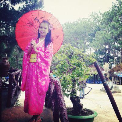 Kimono Beauty Pink Model