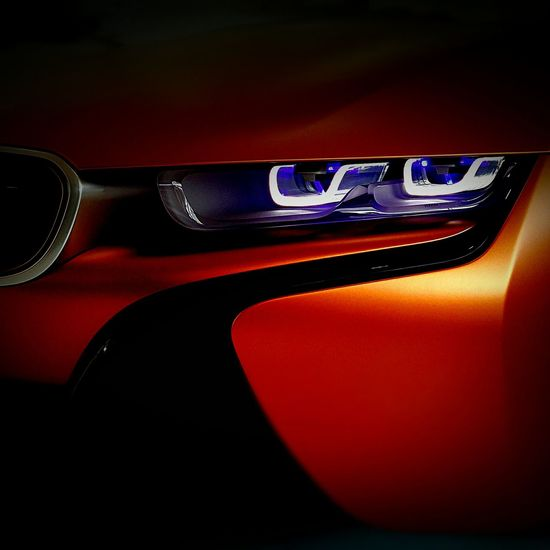 BMW i8 Future Interaction. Bmw I8 Future Close-up Red Illuminated Dark Vibrant Color Extreme Close Up Detail Details Macro GoodwoodFOS Goodwood Festival Of Speed 2016 Sportscars Hypercar Hypercars Supercars Supercar SupercarsofLondon Orange Headlights