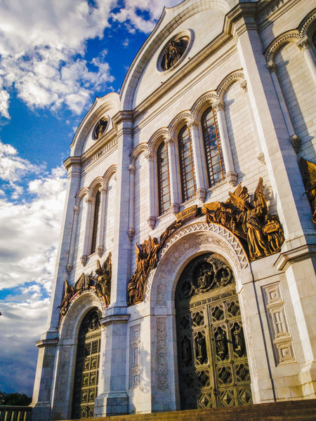 Religion Cathedral Of Christ The Savior Moscow Church Russia Sculpture No People Built Structure Building Exterior Church Architecture History Sky Day Moscow City