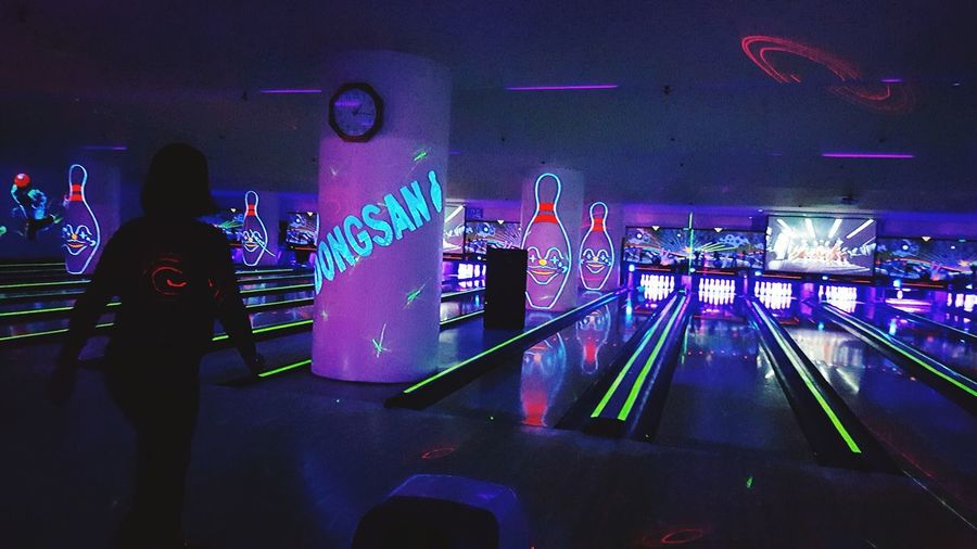 Bowling Vivid Neon All The Neon Lights