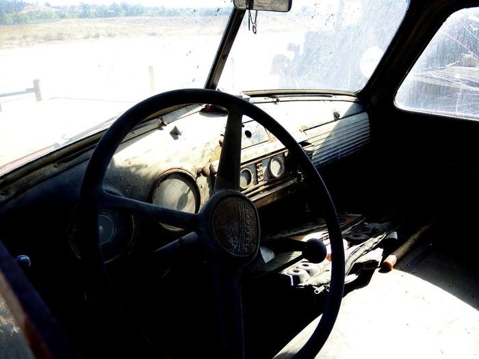 Dashboard Old Truck Dash Truck Interior Truck Steering Wheel Windshield