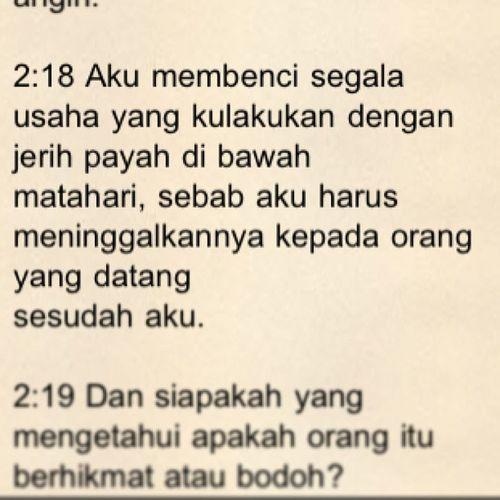 Pengkhotbah Alkitab Kutipan Ayatalkitab rohani bible indonesia sulut tomohon