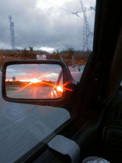 Capture The Moment Atardecer Mirror Espejo Sunshine En Ruta