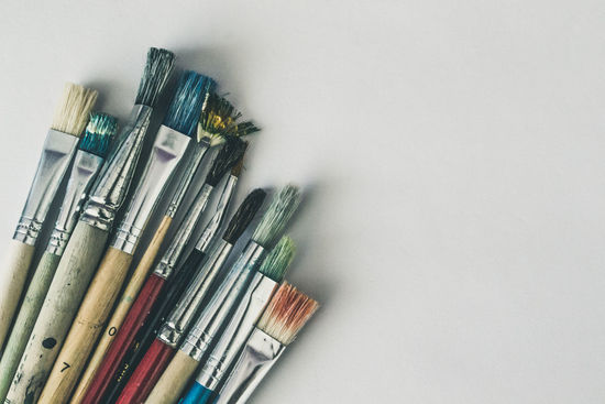 Art Art, Drawing, Creativity Brush Brushes Close-up Color Colorful Colors Kerber Multi Colored No People Paint Painting Painting Brushes Still Life Studio Shot White Background