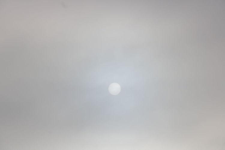 Sun Behind Clouds Manitoba Virden
