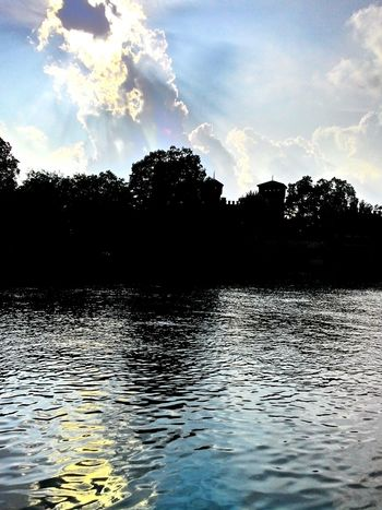 Borgo Medievale Sunset River Fiume Po Water Sunbathing Relaxing Torino Zenfone5 Clouds