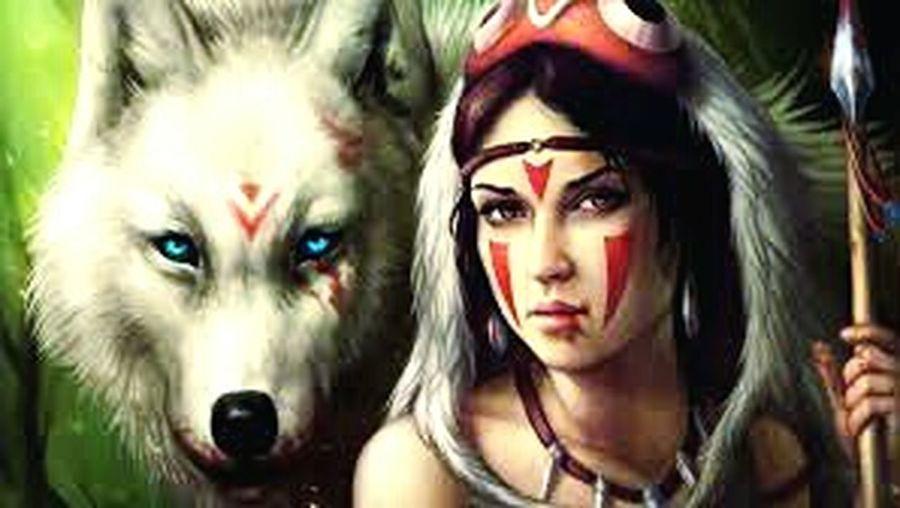 wolfskriegerin mit ihrem wolf Tiere First Eyeem Photo