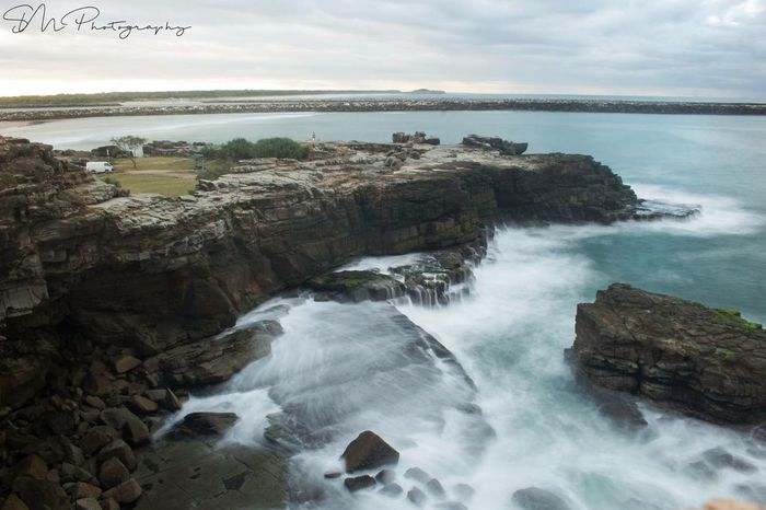 Moody Afternoon in Yamba Canon EyeEm Best Shots EyeEmNewHere Water Scenics - Nature Beauty In Nature Sea Rock Rock - Object Solid Motion Land Nature Beach Outdoors Long Exposure