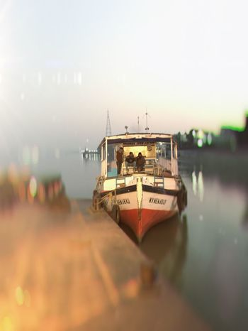 Evening on the river Transportation Mode Of Transport Nautical Vessel No People Water Outdoors Sky Beauty In Nature Clear Sky Kolkatadiaries Kolkata Travel Destinations India Miles Away