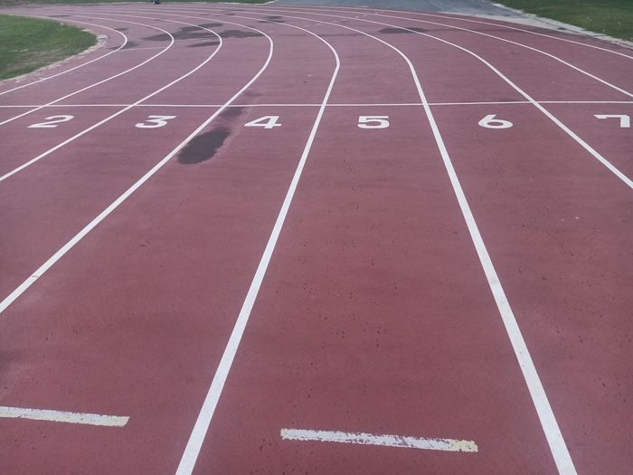 Empty running track outdoors