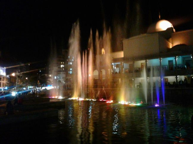 Illuminated Night Lighting Equipment Water Fountain City Reflection Building Exterior City Life Multi Colored Enjoying Life Aguas Danzantes Paseo Del Buen Pastor Córdoba Argentina Buen Pastor Noche Colour Of Life Taking Photos Colors