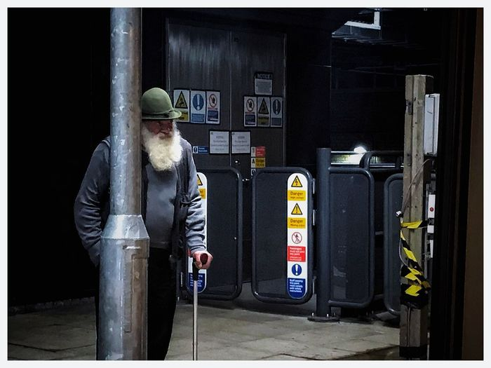 Standing One Person One Man Only Men Night Full Length Adult People Only Men Outdoors Adults Only Middle Ages White Beard Hat Grandpa Be. Ready.