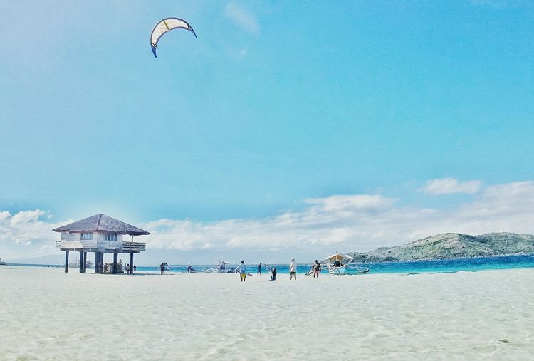 Sandbar Manjuyod White Sand Beach Negros Occidental Philippines