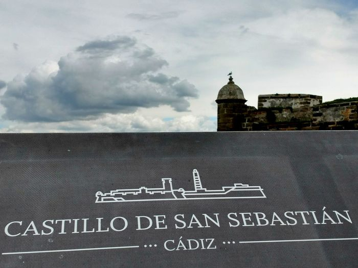 Architecture Castillo San Sebastian SPAIN Cadiz Turistic Places Lifestyle Streetphotography Architecturephotography Walking Around No People Time Traveller Quiet Moments Architecturelovers History City Life City Cloud - Sky Sky Day