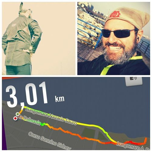 One small step for a runner, a big step for a runner who has been stopped several months. But now I'm back to run ... and in a way ... to live. Nikeplus Run Running AfterUN Diaryofatman Iliveinamovie Dynadog Paolograssi
