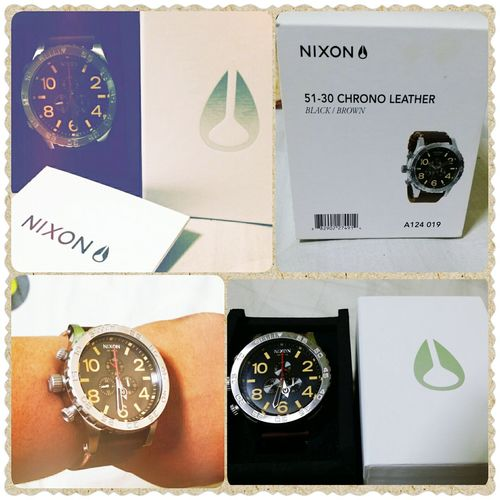 My advance Birthday gift come way too early. THANK YOU ♡ Nixon51-30 Nixonwatch Happiestdude