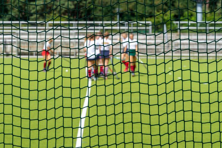 Full frame shot of net
