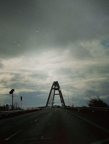 Fehmarnsundbrücke Licht Himmel Regen Wind Reisen No People Rollercoaster Travel Destinations Built Structure Sea