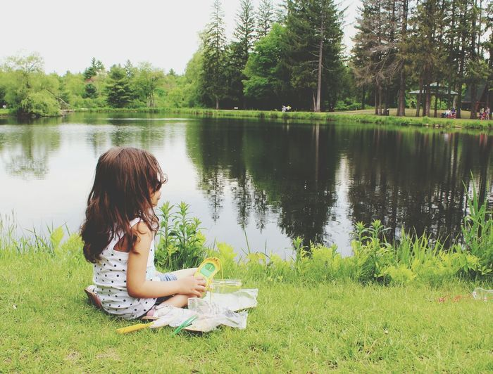 My Happiness Childhood Bear Park Pond Babylove Tranquility Serenity Perfect Day