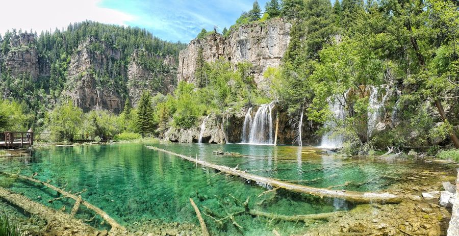 Hanging Lake Colorado Tree Water Nature Reflection Sky Day Tranquil Scene Scenics Tranquility Beauty In Nature Plant Outdoors Willow Tree Cloud - Sky EyeEmNewHere Colorado Colorado Photography EyeEmNewHere Waterfall Waterfalls Been There.