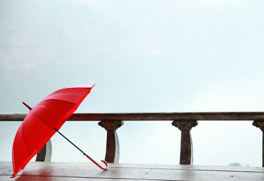 Photo Fog Cannon River View Umbrella Red Redumbrella EyeEmNewHere