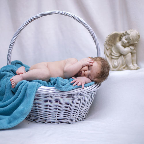 Baby Young Childhood Child Babyhood Innocence Indoors  Real People Basket One Person Cute Full Length Container Sleeping Toddler  Angel Babyphotography Babyphotos Babyphotoshoot